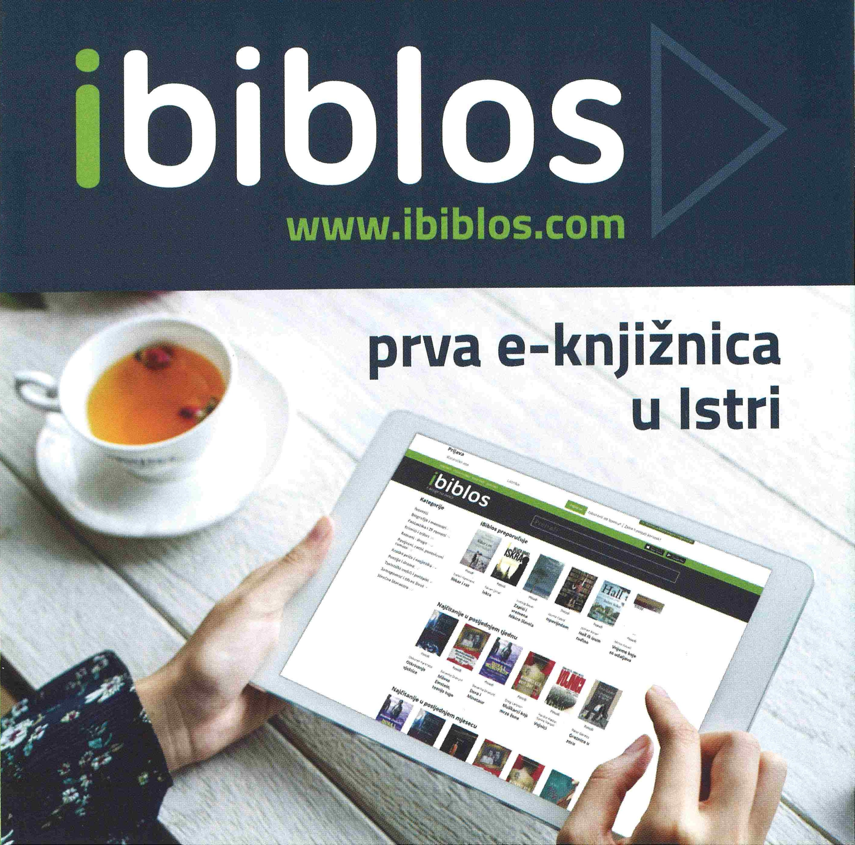 iBiblos - prva e-knjižnica u Istri