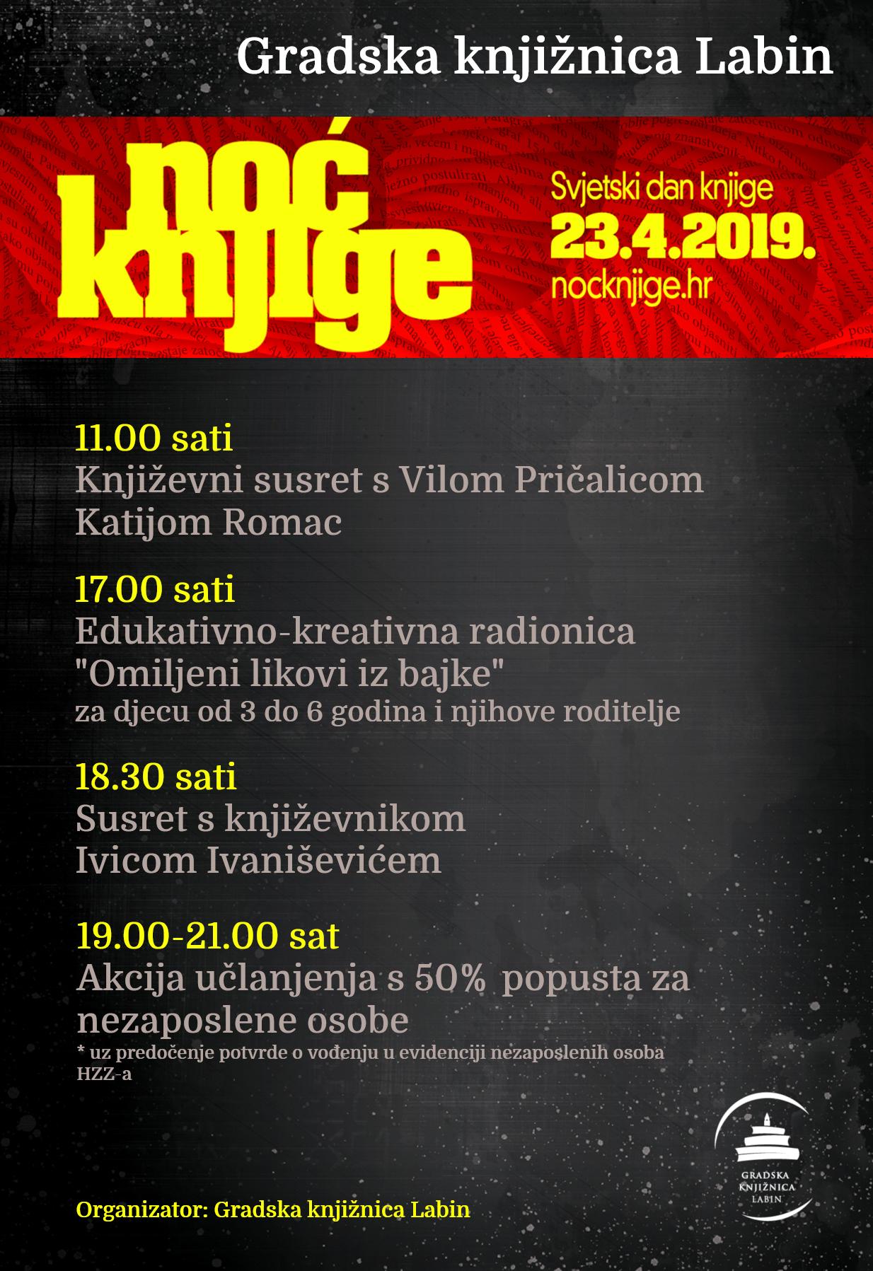 NOĆ KNJIGE 2019. U GRADSKOJ KNJIŽNICI LABIN