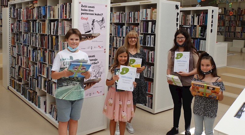 La Mei Miletić, Lena Marie Josić, Martin Franković, Antonela Jurašić i Ružica Vilić ljetni su najčitatelji Gradske knjižnice Labin