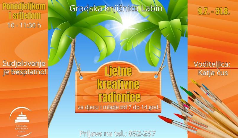 """""""Kreativno ljeto u Knjižnici """" - ljetne kreativne radionice za osnovnoškolce"""