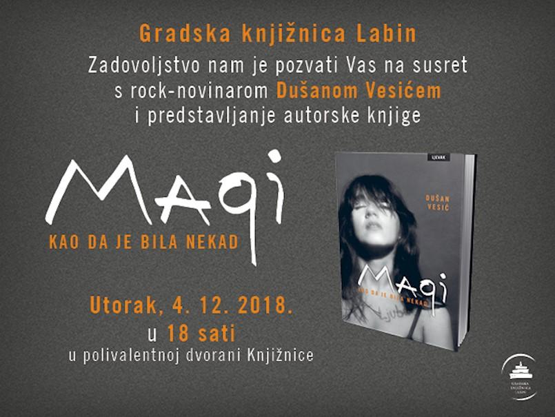 """Susret s rock-novinarom Dušanom Vesićem i predstavljanje knjige """"Magi: kao da je bila nekad"""""""