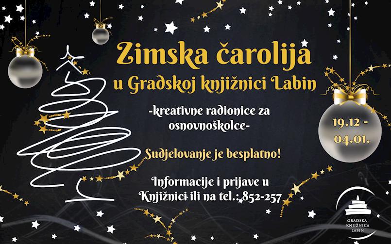 Zimska čarolija u Knjižnici - kreativne radionice za osnovnoškolce